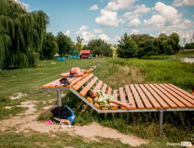 Як лучани відпочивають на центральному пляжі. ФОТО