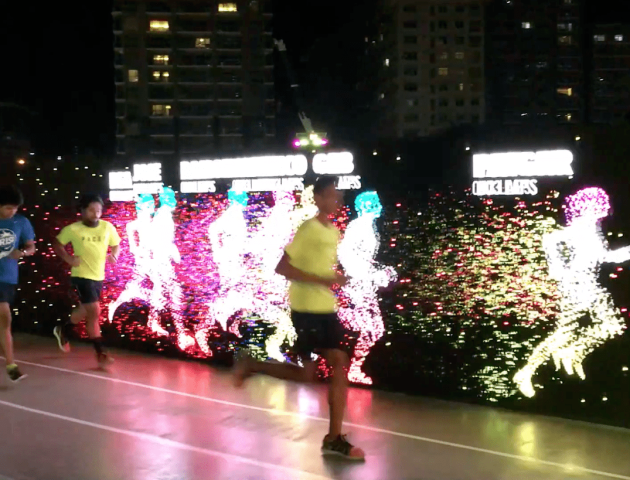 Компанія Nike у філіпінській столиці Манілі побудувала інтерактивний біговий трек