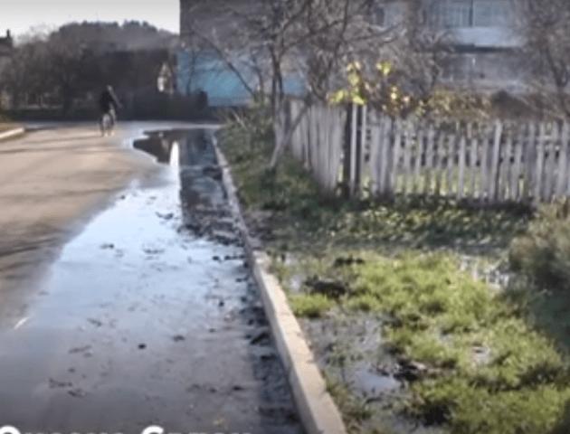 Вулицю в Ківерцях майже три тижні заливає водою. ВІДЕО