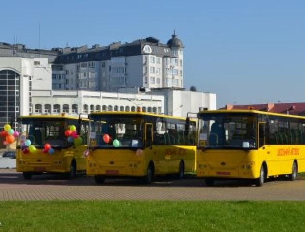Для волинських громад закупили шість шкільних автобусів