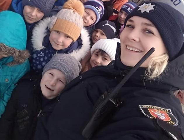 Волинські поліцейські відвідали школярів. ФОТО