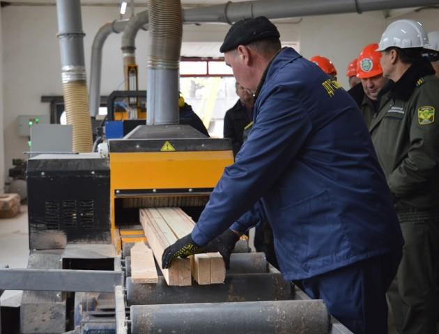 На Волині запрацювала потужна сучасна лінія з переробки деревини. ФОТО