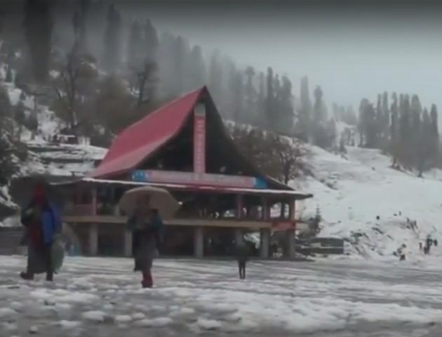Диво природи: на півночі Індії вперше за 10 років випав сніг. ФОТО