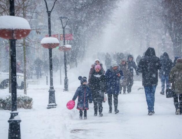 Коли на Волині прогнозують сніг