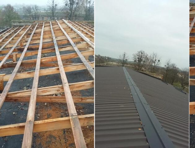 У школі Рожищенського району відновили дах, який вітер зруйнував ще навесні