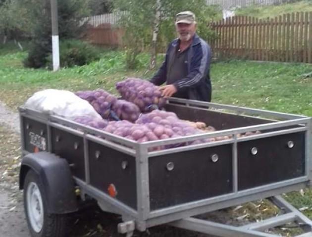 Жителі села під Луцьком зібрали для будинку престарілих тонну картоплі. ФОТО