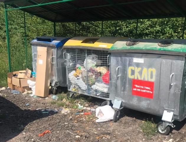У селі поблизу Луцька засмітили територію поруч з смітниками. ФОТО