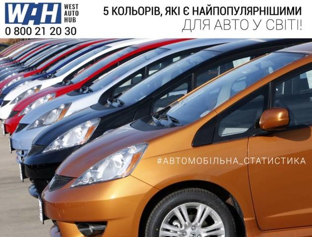 Топ-5 «хітових» кольорів для авто у світі