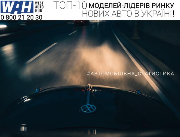 Найпопулярніші моделі нових авто серед українців