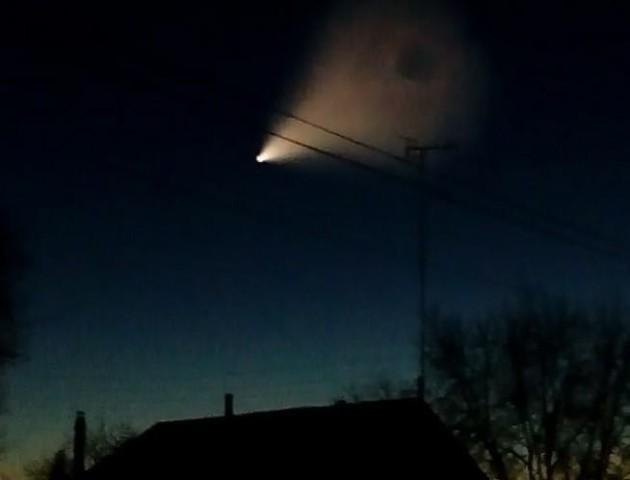 Стало відомо, що за незвичайний об'єкт спостерігали в небі над Луцьком 26 грудня