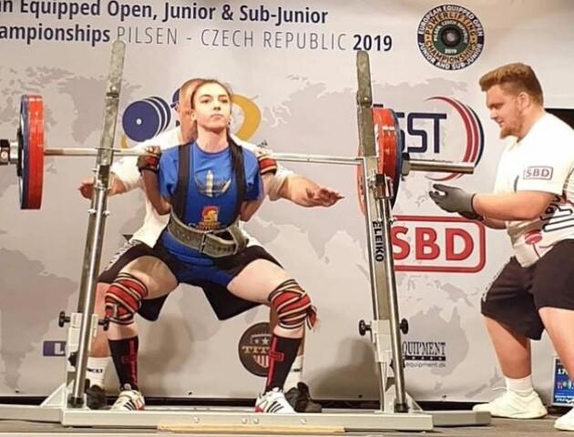 Лучанка здобула «бронзу» на чемпіонаті Європи з пауерліфтингу
