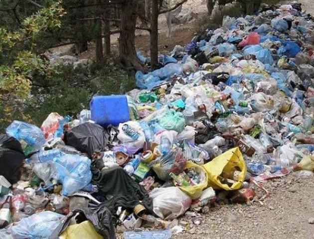 Лучани залишають сміття просто на дорозі. ВІДЕО