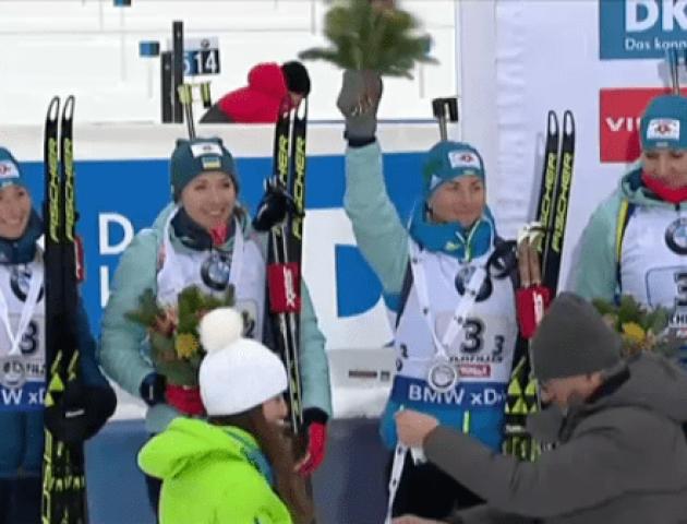 Українки завоювали «срібло» на Кубку світу з біатлону