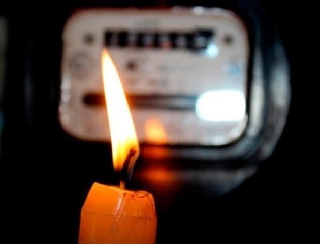 Графік відключення електроенергії 15 лютого