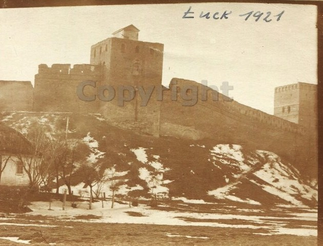 Луцький замок 1921 року. ФОТО