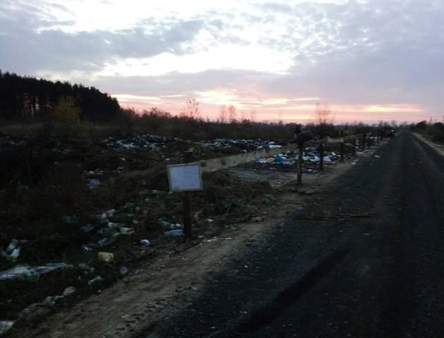 На Волині «облагородили» стихійне сміттєзвалище. ФОТО