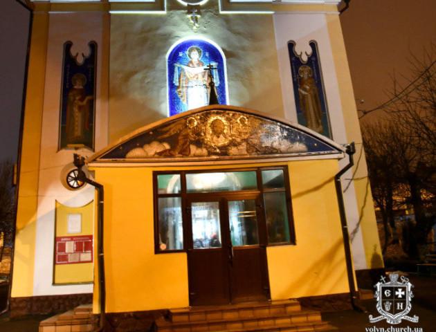 Святкове Богослужіння у найстарішому храмі Луцька в новорічну ніч. ФОТО