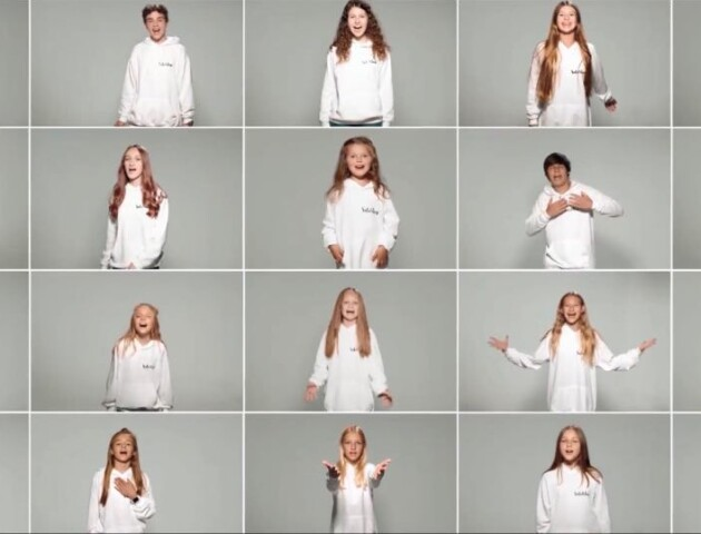 Волинська співачка із вихованцями презентувала кліп до Дня Незалежності. ВІДЕО