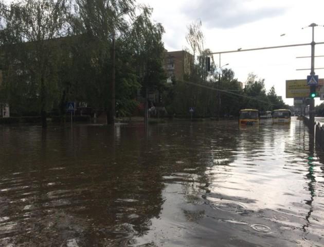 Скільки у Луцьку витратили на ліквідацію наслідків зливи