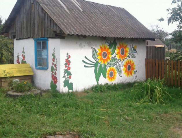 Луцька письменниця створює казку з сільських хатинок. ФОТО