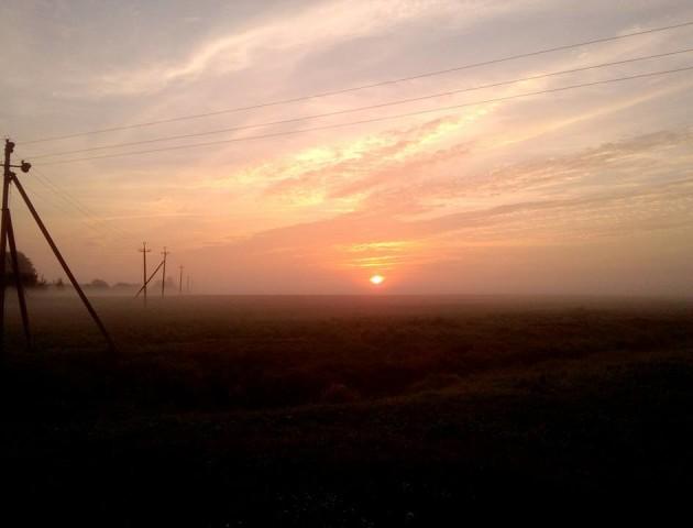 Магічний світанок поблизу Луцька. ФОТО