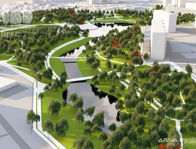 Дитяче містечко, амфітеатр на воді та івент-зона: луцький парк перетворять на урбаністичний об'єкт