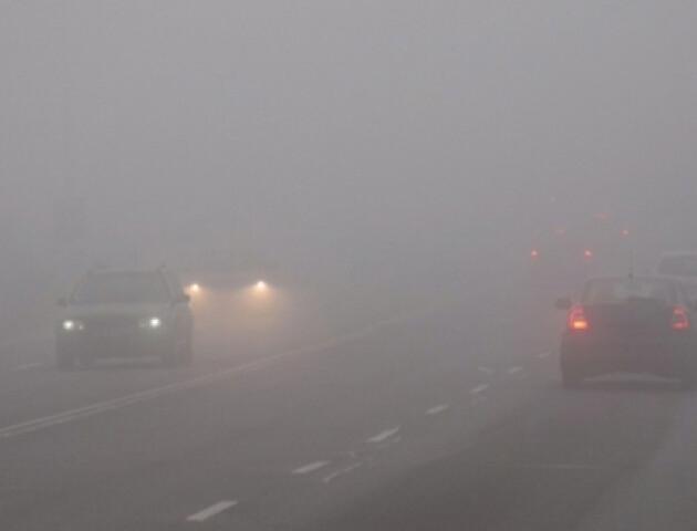 Волинян просять бути обачними на дорогах. Прогнозують сильний туман