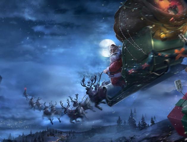 Американський телеканал у прямому ефірі показує казковий політ Санта Клауса навколо Землі