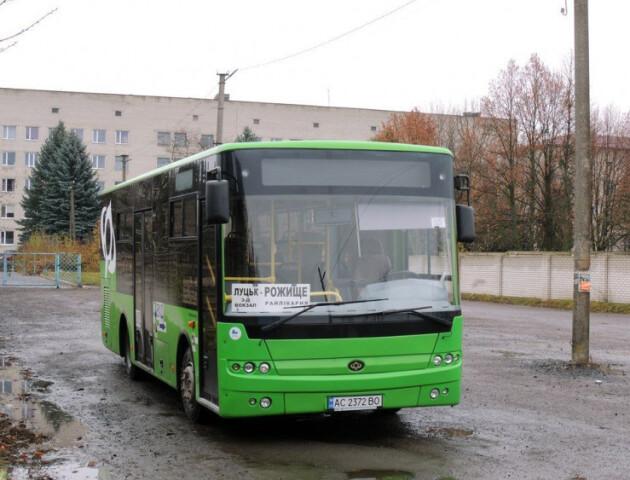 Автобуси маршруту Луцьк–Рожище тимчасово змінять схему руху