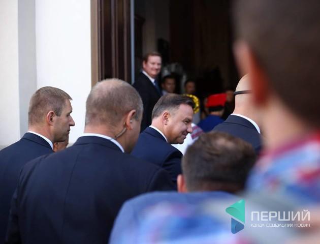 До Луцька прибув польський президент Анджей Дуда. ФОТО. ВІДЕО. ОНОВЛЕНО