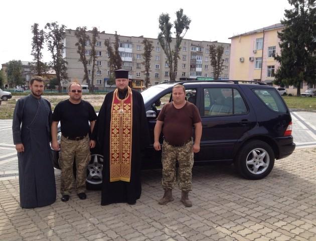 Волинський священик вирушив на Схід. ФОТО