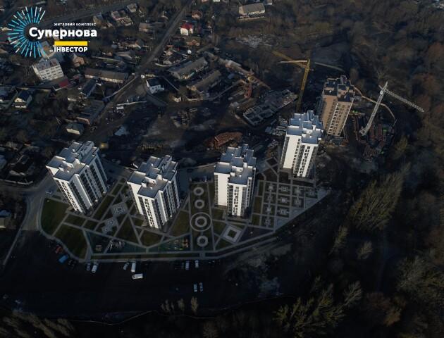 У Луцьку почали зводити новий великий будинок на шість під'їздів. ВІДЕО