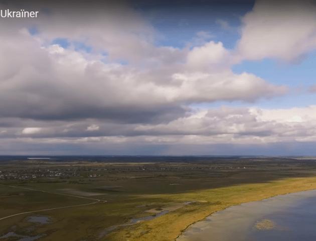 Шацькі озера - погляд з неба. ВІДЕО