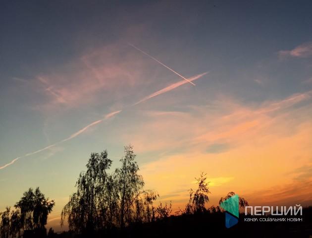 Неймовірний захід сонця в Луцьку. ФОТО