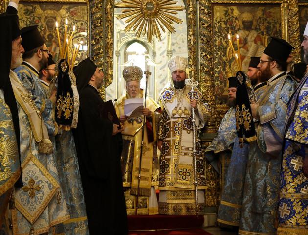 Православній церкві України дали Томос. ВІДЕО