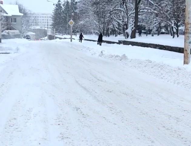 Випробування снігопадом: на луцьких дорогах  ні пройти ні проїхати. ВІДЕО