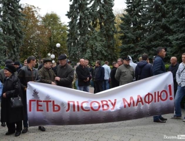 У Луцьку відбулась акція під «лісовим» управлінням. ФОТО