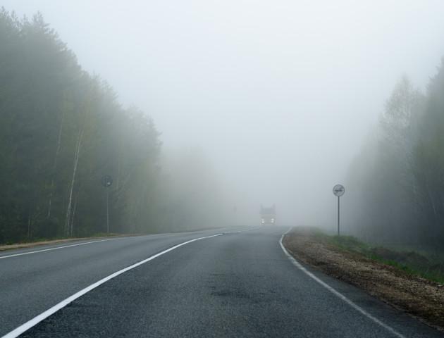 На дорогах Волині –погана видимість через туман