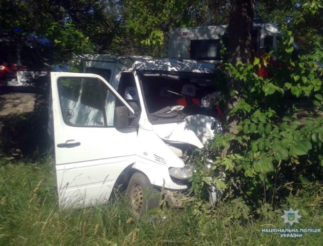 Аварія на Волині: авто з'їхало в кювет і «врізалося» в дерево. ФОТО