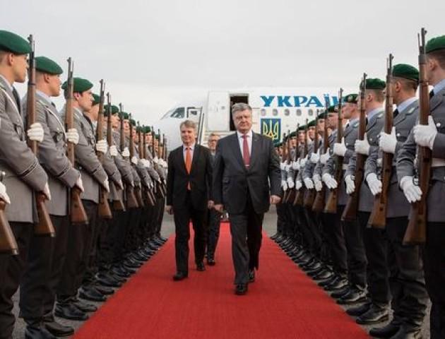 Президент України прибув з візитом до Німеччини