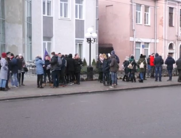 «Пільгак за студак»: як у Луцьку протестували студенти. ВІДЕО
