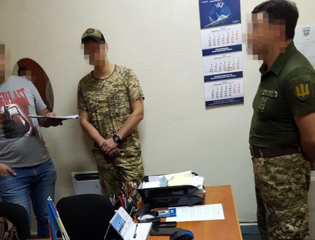 У Луцьку на хабарах затримали завідувача військової кафедри одного з вишів. ФОТО. ВІДЕО