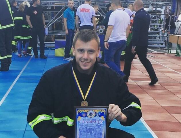 Волинський рятувальник взяв срібло на міжнародних змаганнях