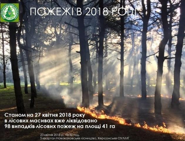 З початку року в Україні сталося близько сотні лісових пожеж