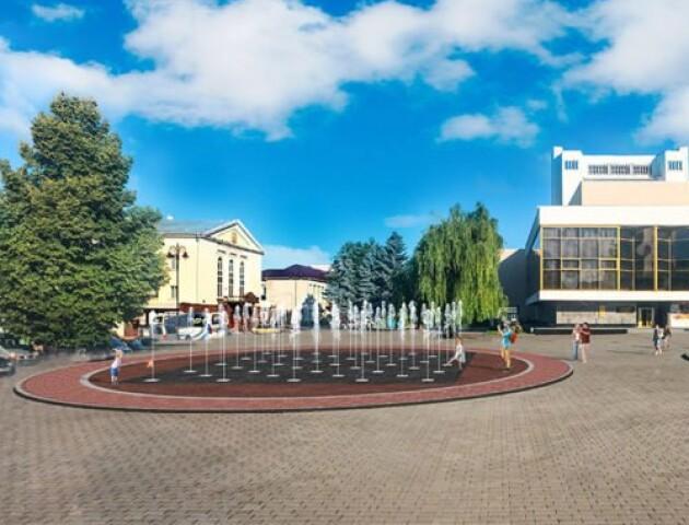 Фонтан у центрі Луцька обіцяють відкрити у вересні