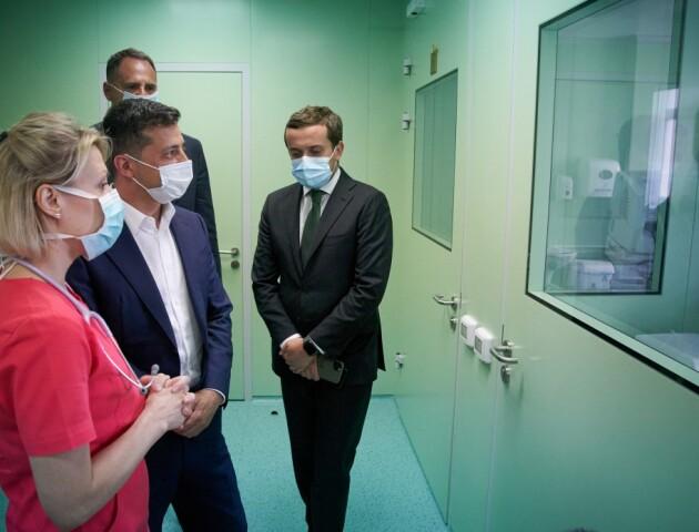 Зеленський відвідав перинатальний центр у Луцьку