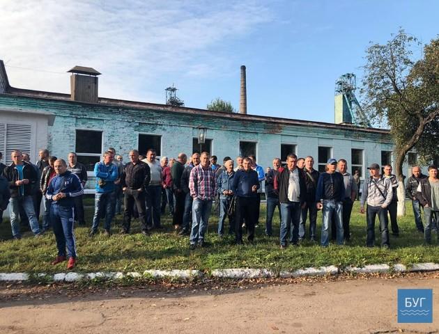 До Волинської шахти приїхали «люди в чорному». ФОТО. ВІДЕО