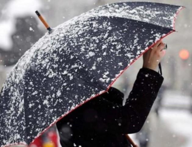 Сніг із дощем накриє сьогодні Волинь