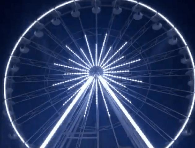 У луцькому парку хочуть облаштувати ілюмінацію для колеса огляду. ВІДЕО