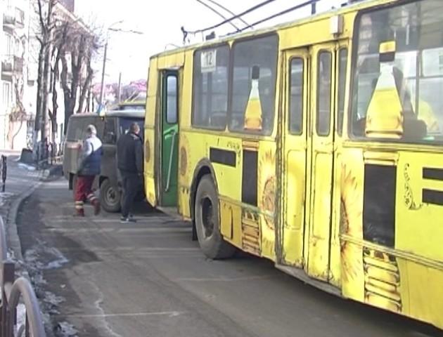 У Луцьку – затор через несправний тролейбус